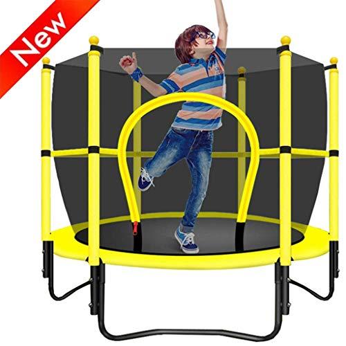 JY&WIN Trampolín de jardín trampolín Plegable trampolín para niños en el hogar reboteador de jardín trampolín Interior al Aire Libre con Red Protectora trampolín Deportivo de Fitness 250 kg (Color: