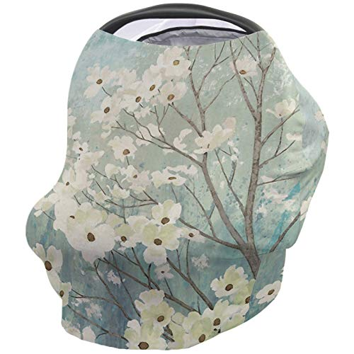 Why Should You Buy Floral Nursing Cover for Baby Breastfeeding, Soft Breathable Stretchy Carseat Can...
