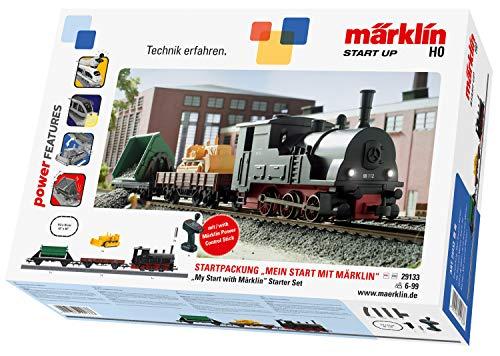 Märklin start up 029133 Up Märklin Startpackung-Modelleisenbahn Starter Set, für Kinder ab 6 Jahren, 3-teiliger Zug mit Licht, Spur H0