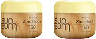 Sun Bum Clear Zinc Oxide Sunscreen Lotion, SPF 50, 1 ounce. Jar, Broad Spectrum UVA, UVB Protection, Paraben Free, Gluten Free, Oil Free, 2 Count
