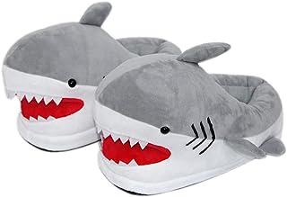 EASTVAPS Chaussures Pantoufles en Peluche Requin Blanc Chaussures en Coton à Fond épais Doux