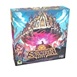 Sorcerer City Board Game | Tile Laying and Deck Building Strategy Game of Wizard Architects, for Teens and Adults, 1-6 Players