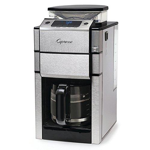 Capresso 487.05 Team Pro Plus Coffee Maker, Glass Carafe, 12 Cup, Silver