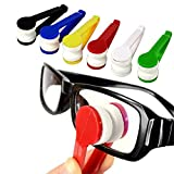 Mini Microfiber Spectacles Cleaner, Eyeglass Sun Glasses Cleaner, Soft Brush Cleaning Tool, Cleaning Clip, Microfiber, Super Light, Mini Size, Easy Use (6 Pack)