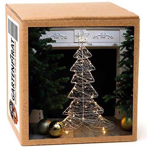 Gartenpirat figura árbol Navidad 100cm alambre cadena luz 80 LED parpadeante interiores