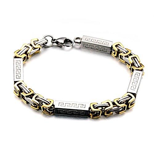 XJYA Europäischen und Amerikanischen Edelstahl, Titan Eisen, Great Wall Ornamente, Armbänder, Gold