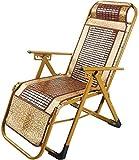 ZWWZ Silla de Oficina Silla Tumbona Plegable Summer Garden Jardín Bamboo Beach Portable al Aire Libre Asiento de la Silla Silla Que acampa Mahjong, Peso Ligero, de Carga 250 kg Xiuyun HAIKE