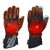 ISSYZONE Beheizbaren Handschuhe, Beheizt Winter Akku Handschuhe mit 2600MAH Wiederaufladbare Lithium-Ionen-Batterie für Motorradfahren, Winterski, Eislaufen (L)