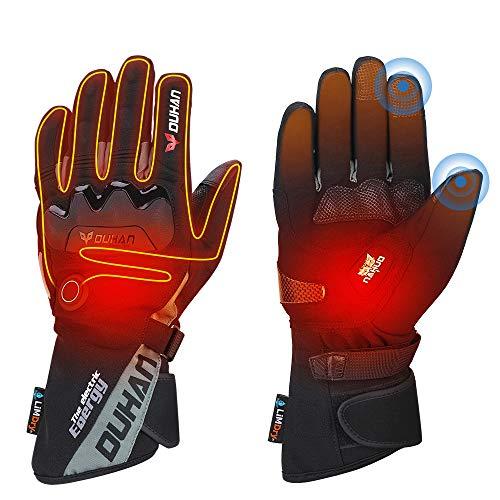 ISSYZONE Beheizbaren Handschuhe, Beheizt Winter Akku Handschuhe mit 2600MAH Wiederaufladbare Lithium-Ionen-Batterie für Motorradfahren, Winterski, Eislaufen (XXL)