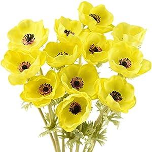 FiveSeasonStuff 'Real Touch' Anemone Artificial Flowers & Wedding Bouquet