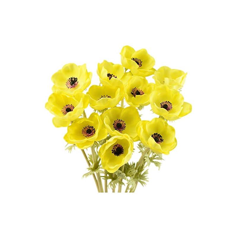 silk flower arrangements fiveseasonstuff 'real touch' anemone artificial flowers & wedding bouquet