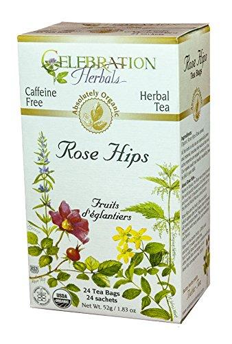 CELEBRATION HERBALS Rose Hips Tea Organic 24 Bag, 0.02 Pound