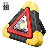 Ledeak Triangolo LED Lavoro Lampada, Torcia Portatile COB Super Luminosa, Leggero Impermeabile Luce D'avvertimento di Traffico Emergenza Proiettore per Campeggio, Escursionismo, Riparazione Auto