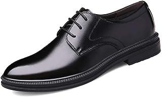 [Aisxle] 6cm UP ビジネスシューズ メンズ シークレットシューズ 牛革 レースラップ 紳士靴 革靴 通気性 防滑