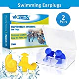 WOTEK Ohrstöpsel Schwimmen 2 Paar wasserdichte Wiederverwendbare silikon ohrstöpsel, weiches...