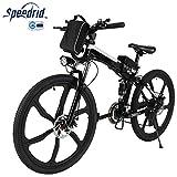 Speedrid Elektrofahrrad E Bike 20/26 Zoll Reifen Elektrisches Fahrrad Ebike mit 36V 8Ah/12.5Ah Lithium-Batterie, 250W Stabile höhe Geschwindigkeit bürstenlosem Motor und Professionell Shimano Gang