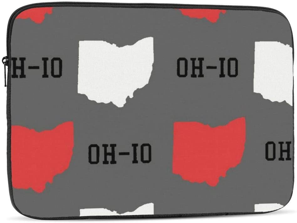 New cheap Oh-io State Map Gray Laptop Compatible Sleeve Bombing new work Bag with iPad