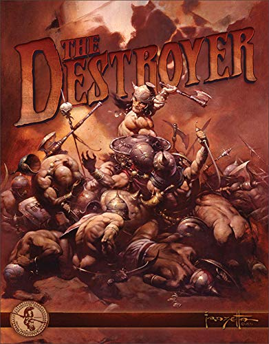 Desperate Enterprises Frazetta - The Destroyer Tin Sign, 12.5