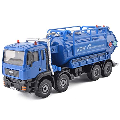 SXET-Modellauto Modell Auto Engineering Auto Modell Kinder Spielzeugauto Abwasser Recycling Fahrzeug Modell Spielzeug Simulation Legierung Automodell (Color : Blue)