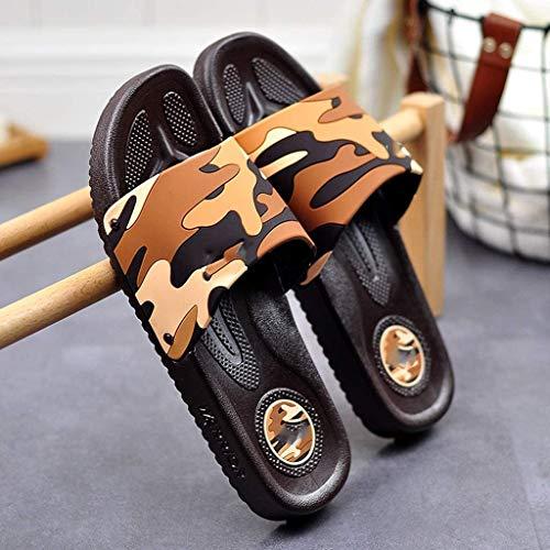 TQJ Apatillas de Baño Antideslizantes Zapatillas De Baño Ducha para Hombres Playa Y Piscina Zapatos De Piscina Inicio Verano Baño Baño Hogar Zapatillas De Interior Sandalias De Ducha (Size : 40)