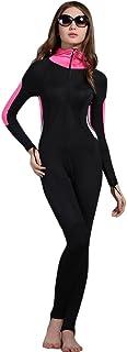 ثوب سباحة للجسم بأكمله من Micosuza تغطية كاملة - أرجل طويلة وأكمام طويلة للنساء للحماية من الشمس رداء سباحة قطعة واحدة (FBA)