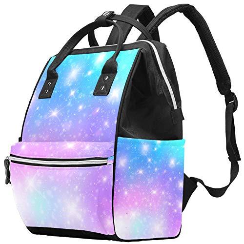 Grand sac à langer multifonction pour bébé, sac à dos, motif galaxie Star de fond, sac à dos de voyage pour maman et papa
