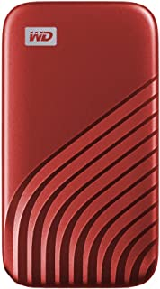 WD 1TB My Passport SSD External Portable Drive, Red, Up to 1,050 MB/s - WDBAGF0010BRD-WESN