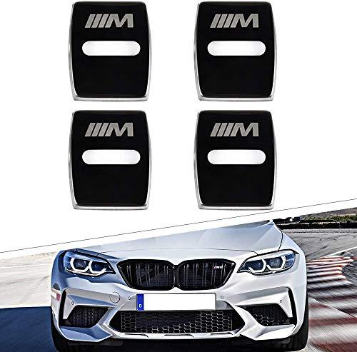 NA 4Pcs Coche Estilo Cubierta de Cerradura de Puerta, para BMW 3 4 5 7 Series 3 5 Series GT X1 X3 X4 Door Lock Cover Acero Inoxidable Auto Protección Accesorios
