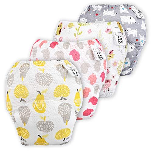 Flyish Baby Mädchen Trainerhosen Mädchen Training Unterwäsche Kleinkinder Windelhose Durchbrochene Töpfchen Trainingshose
