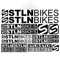 盗まれたバイク自転車フレームMTB BMXステッカーステッカーセットビニールグラフィックデカールデカールボディ車のための装飾デカールステッカーキットスタイリング (BLACK)