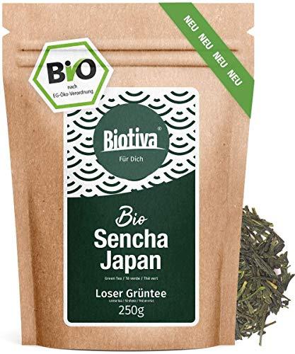 Sencha Japan Grüntee Bio - 250g - Spitzenpreis - Mild, angenehm grasig, blumig -Abgefüllt und kontrolliert in Deutschland (DE-ÖKO-005) - 30 Jahre Tee Erfahrung