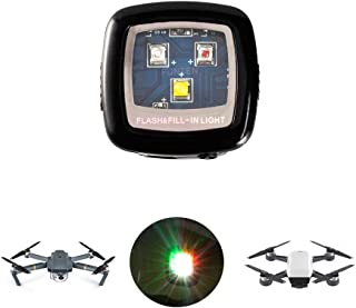 FUNTEN CREE Drone Strobe Lights Led Flash Lights for Night Cruise Strobe for DJI Spark Inspire 1 2 Phantom 3 4 Mavic 2 Air Pro Zoom Yuneec Typhoon H Q500 Matrice FAA 107 Rechargeable - Multi Color