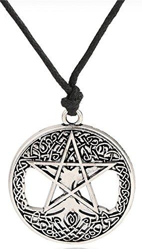 Árbol de la vida Wicca Pentagram Yggdrasil Pentacle Colgante talismán amuleto