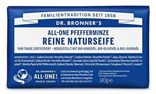 Dr Bronner's Peppermint Pure Castile Bar Soap 140 gr