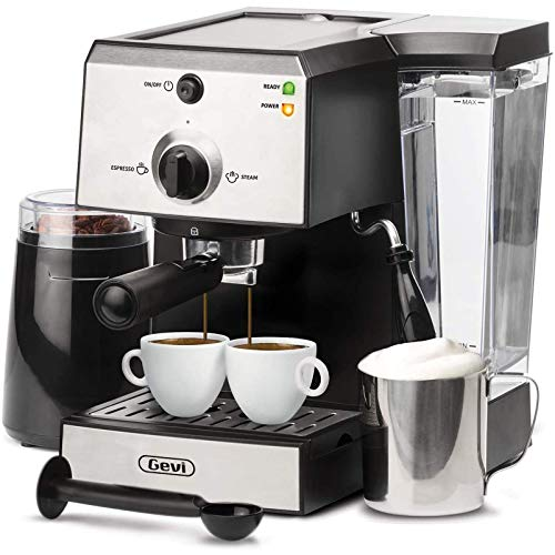 Espresso Machines 15 Bar Coffee Machine with Milk Frother...
