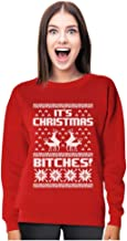 Tstars Merry Christmas Bitches Ugly Sweater Humping Reindeer Funny Women Sweatshirt