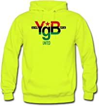 ATHLETE ORIGINALS Men's Hoodie by YgB United United YgB United – Pan African in #007 D44 (Flex Print) M Safety Green