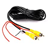 Chuanganzhuo RCA Video Cable, CAZBC13 CAR Reverse Rear View Parking Camera Video Extension Cable with Detection Wire (6 Meters)