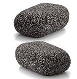 Piedra Pómez Vulcan- Pack de 2 unidades (Colores: Gris - Gris) - Elimina durezas y callosidades de pies y manos