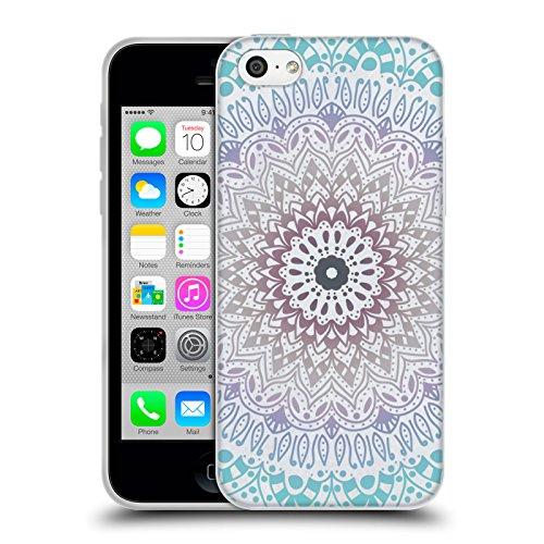 Head Case Designs Licenza Ufficiale Nika Martinez Estate Blu Mandala Cover in Morbido Gel Compatibile con Apple iPhone 5c