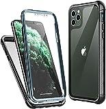 Temdan iPhone 11 Pro Max Hülle, 360 Grad Armor Transparent