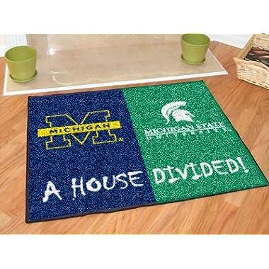 Fan Gear Fanmats Michigan - Michigan State House Divided Rugs 34 x45  NCAA-6032