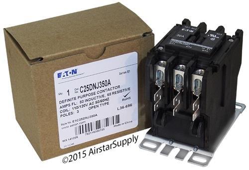Cutler Hammer C25DNJ350A Contactor 3P 50 Amp 120V