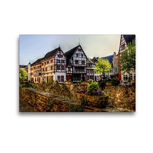 CALVENDO Premium Textil-Leinwand 45 x 30 cm Quer-Format Abendliche Stimmung in Bad Münstereifel, Leinwanddruck von Arno Klatt