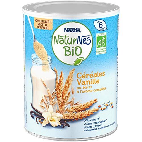 NESTLE Bébé NATURNES BIO Céréales Vanille - Boîte 240g - Dès 6 mois