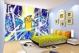 3D Pokemon Éclair Pikachu 885 Japan Anime Fond d'écran Mur Peintures Murales...