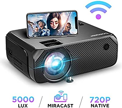 BOMAKER HD TV Projector, 3,600 Lux LED HDMI Projector with Carrying Bag, 1080P and 250'' Display Supported, Compatible with TV Stick, PS4, HDMI, VGA, TF, AV and USB