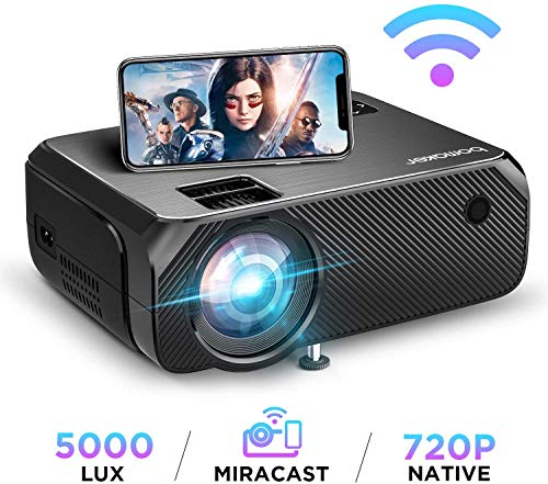 Wi-Fi Mini Projector, Upgraded 5...