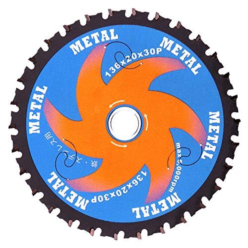 MAPTCO, 136mm 30T. Arbor 20mm with 15.88mm Washer. Metal Cutting Circular Saw Blade, For MAKITA HIKOKI MILWAUKEE BOSCH DEWALT Cordless Saw.