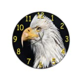 xiaomomo521 Orologio da Parete, Orologio A Movimento Silenzioso Acrilico, Orologio da Parete Senza Bordi Sveglia 33cm Puntatore Chiaro Notturno D-385